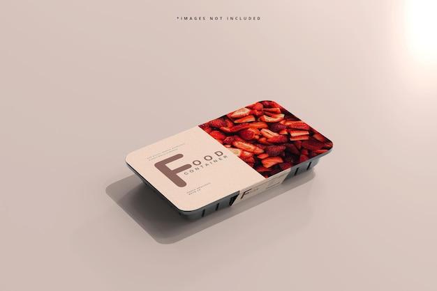 Maquete de recipiente de comida de tamanho pequeno
