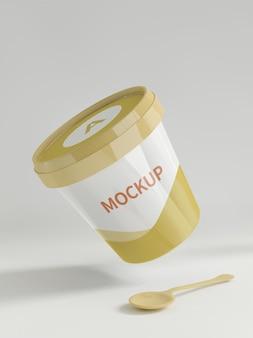 Maquete de recipiente de comida instantânea