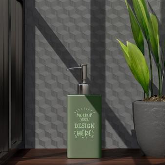 Maquete de recipiente de cosmético para embalagem de frasco em branco de creme, loção, soro