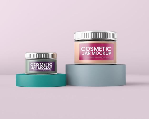 Maquete de recipiente de creme cosmético para creme