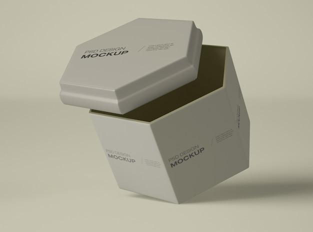 Maquete de recipiente de creme