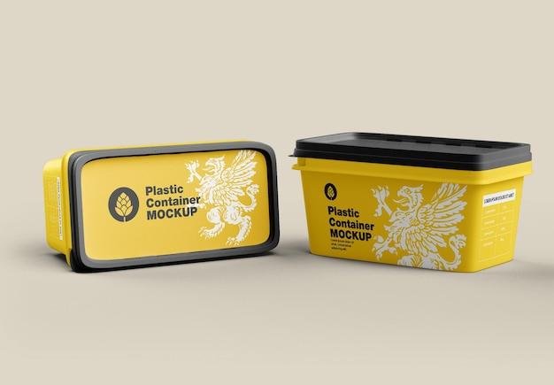 Maquete de recipiente de plástico
