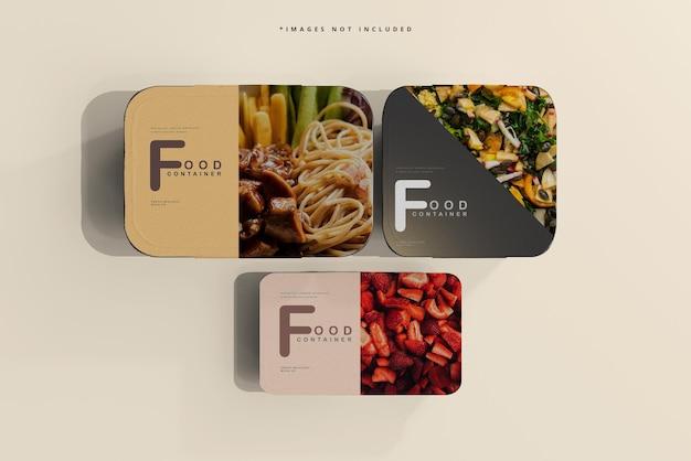 Maquete de recipientes de alimentos