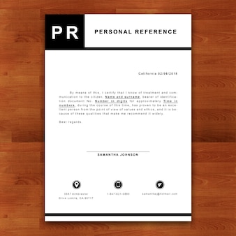 Maquete de referência pessoal