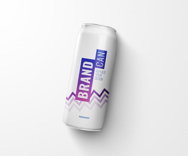 Maquete de refrigerante magro pode lançar sombra na renderização 3d realista de chão
