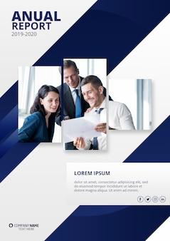 Maquete de relatório anual moderno
