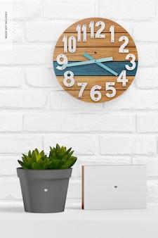 Maquete de relógio de parede redondo