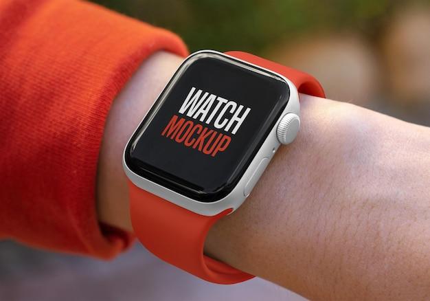 Maquete de relógio inteligente
