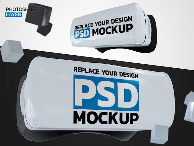 Maquete de renderização 3d de realidade virtual