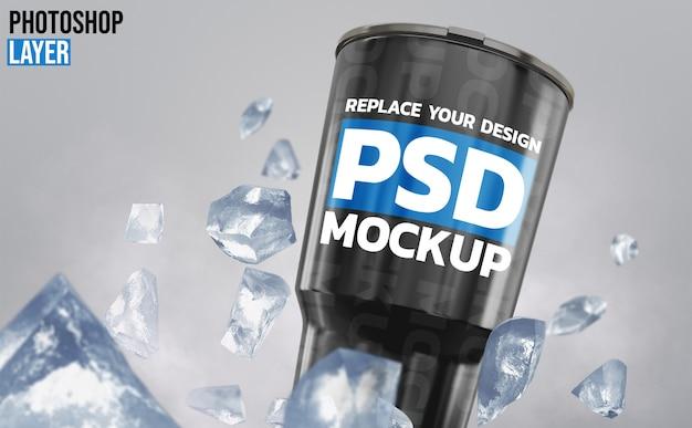 Maquete de renderização de copo