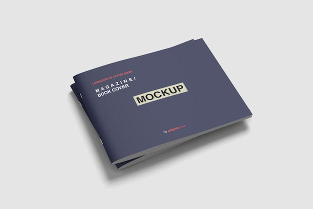 Maquete de revista de capa dupla