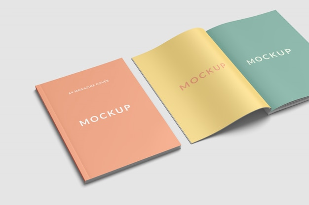 Maquete de revista de capa e divulgação