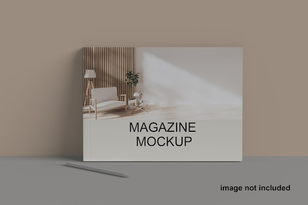 Maquete de revista de paisagem a5