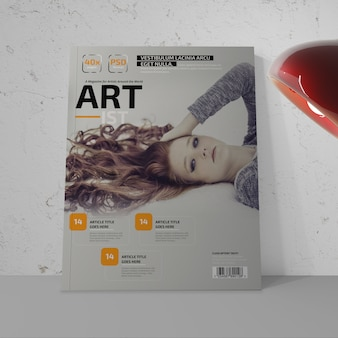 Maquete de revista foto-realista