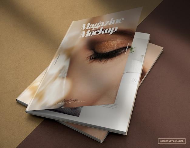 Maquete de revista fotográfica realista