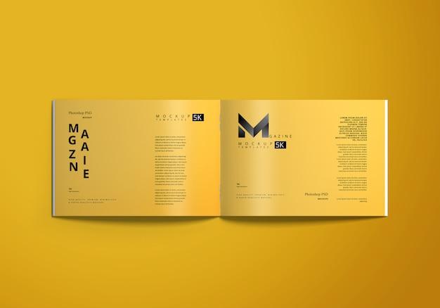 Maquete de revista horizontal