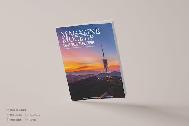 Maquete de revista isolada