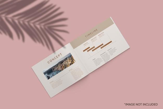 Maquete de revista minimalista