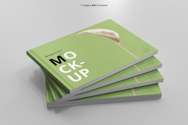 Maquete de revistas de paisagem