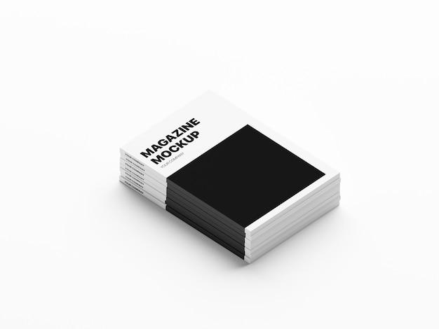 Maquete de revistas empilhadas por gráficos de anthony boyd