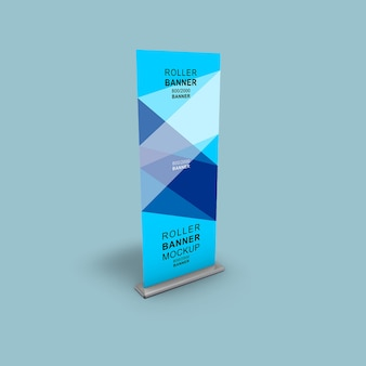 Maquete de rollup de stand-up corporativo xbanner