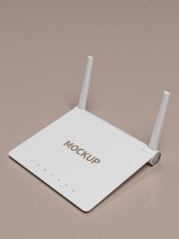 Maquete de roteador de rede wifi