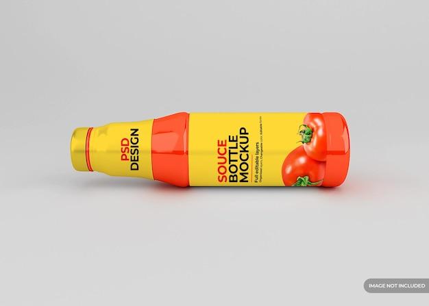 Maquete de rótulo de frasco de molho de tomate