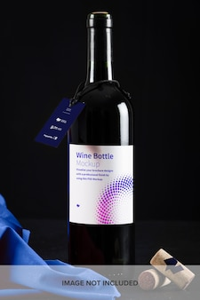 Maquete de rótulo de garrafa de vinho