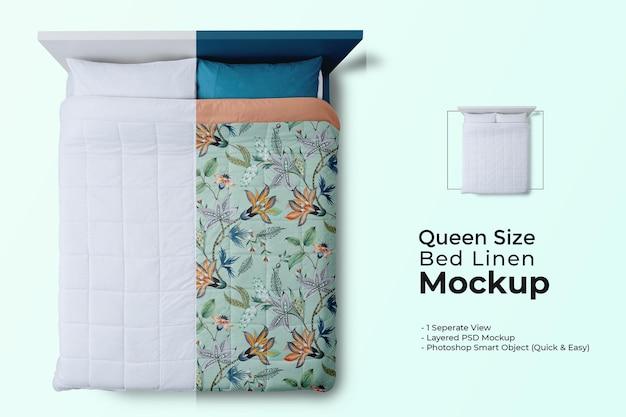Maquete de roupa de cama queen-size