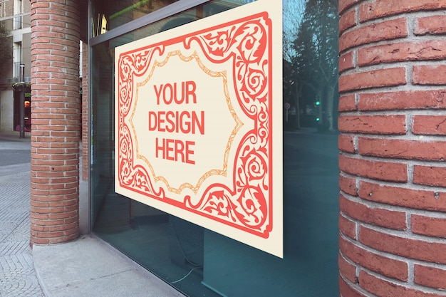 Maquete de rua de cartaz horizontal