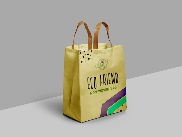 Maquete de saco de amigo ecológico