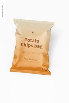 Maquete de saco de batatas fritas