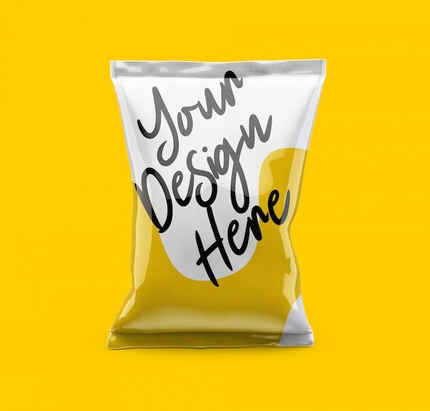 Maquete de saco de bolsa de lanche