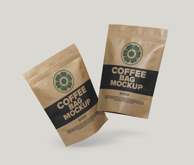 Maquete de saco de café isolada