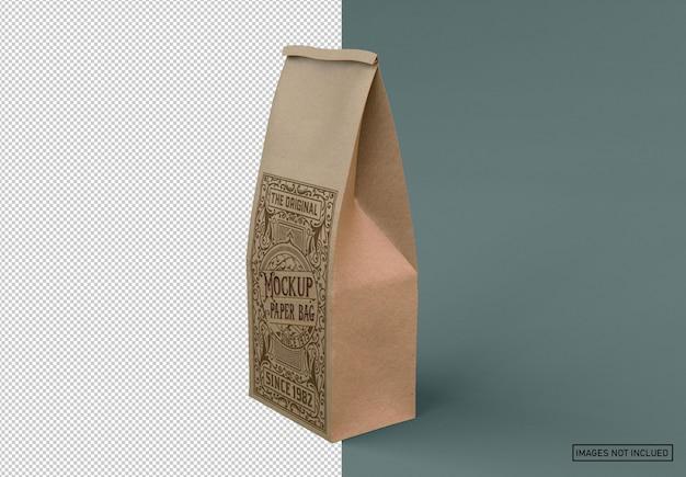 Maquete de saco de café kraft