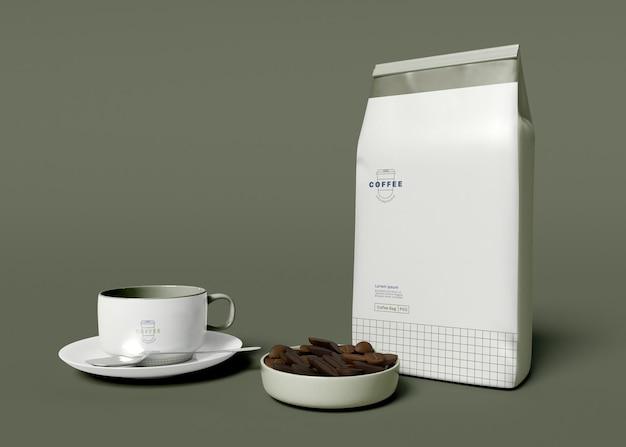 Maquete de saco de café