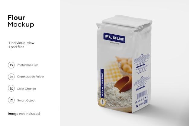 Maquete de saco de farinha de papel