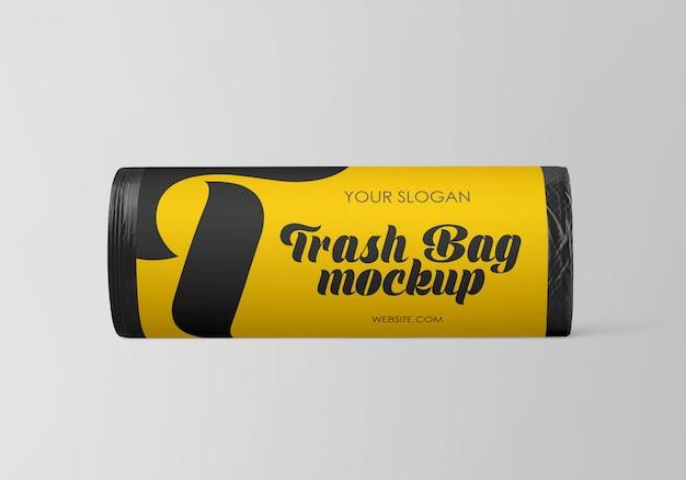 Maquete de saco de lixo fosco