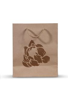 Maquete de saco de logotipo de papel isolada