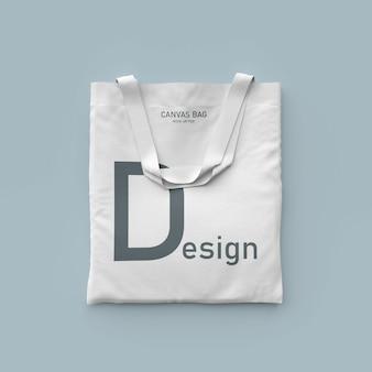 Maquete de saco de lona