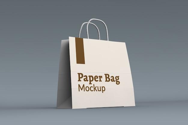 Maquete de saco de papel comercial isolado