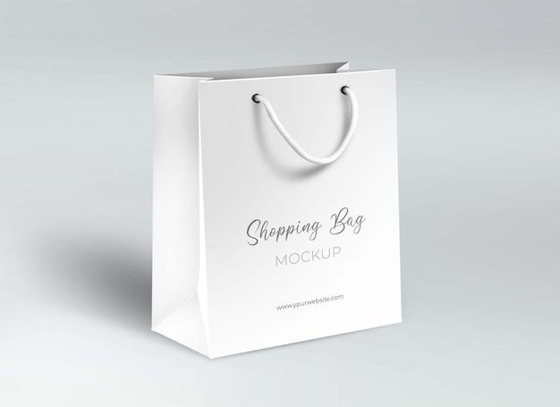 Maquete de saco de papel comercial