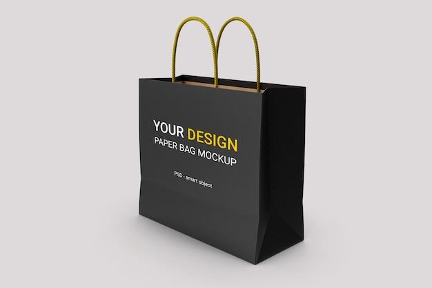Maquete de saco de papel de luxo