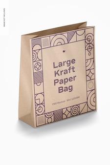 Maquete de saco de papel kraft grande