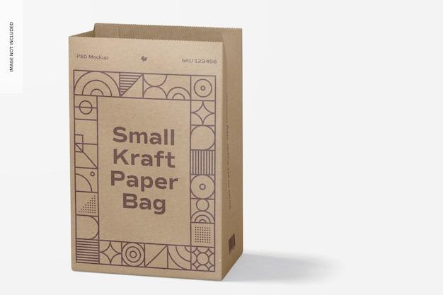 Maquete de saco de papel kraft pequeno