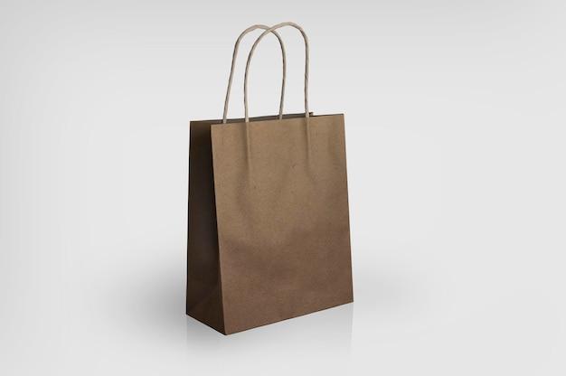 Maquete de saco de papel marrom