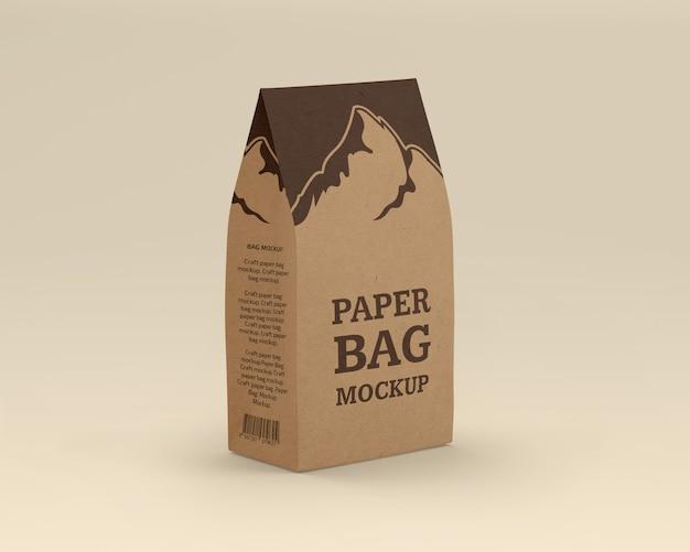 Maquete de saco de papel ofício