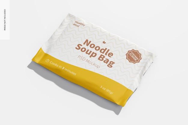 Maquete de saco de sopa de macarrão