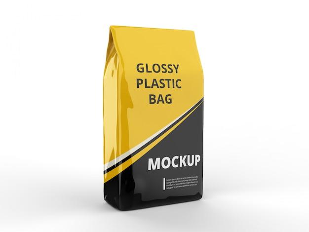 Maquete de saco plástico