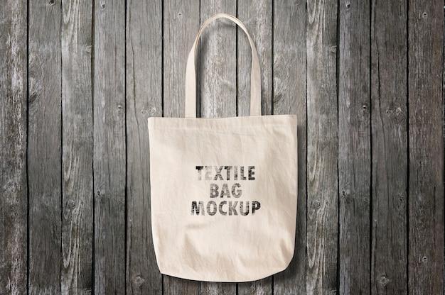 Maquete de saco têxtil